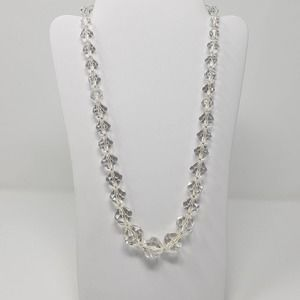 Kenneth Jay Lane Clear Graduated Bead Necklace